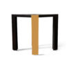 Tree Black Wood and Gold Metal Side Table 5