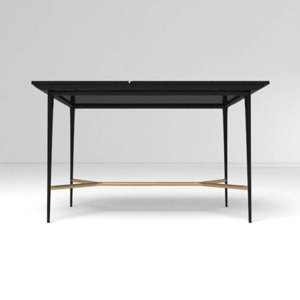Tree Wooden and Metal Console Table Down