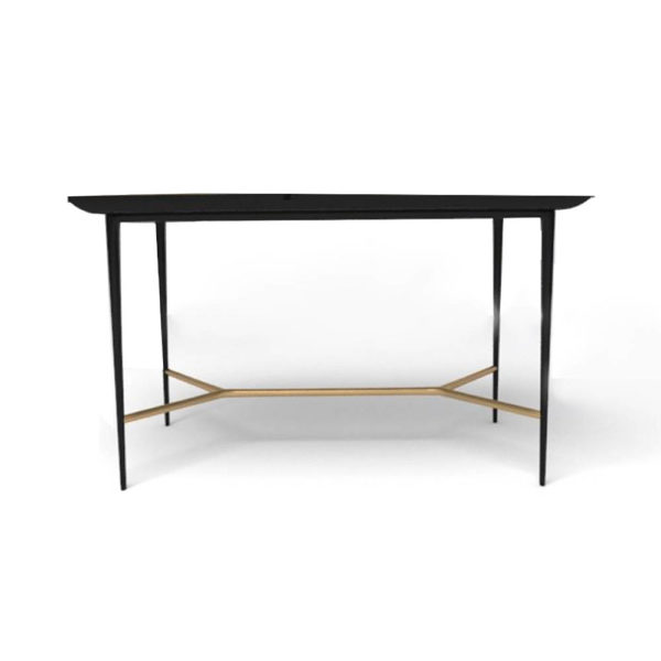 Tree Wooden and Metal Console Table Front