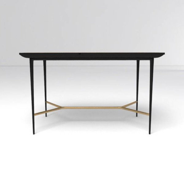 Tree Wooden and Metal Console Table Front View