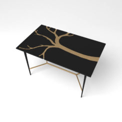 Tree Wooden and Metal Console Table Top