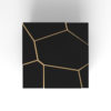 Trio Square Wooden End Table with Brass Inlay 3
