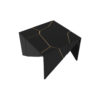 Trio Square Wooden End Table with Brass Inlay 5