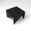 Trio Square Wooden End Table with Brass Inlay 2