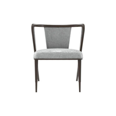 Zaria Upholstered Dining Chair with Armrest