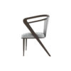 Zaria Upholstered Dining Chair with Armrest 3