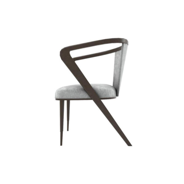 Zaria Upholstered Dining Chair with Armrest Left Side View