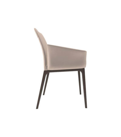 Zaz Upholstered Wingback Armchair Right Side View