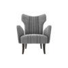 Zelda Upholstered Wing Armchair with Black Wooden Legs 1