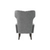 Zelda Upholstered Wing Armchair with Black Wooden Legs 4