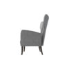 Zelda Upholstered Wing Armchair with Black Wooden Legs 3