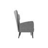 Zelda Upholstered Wing Armchair with Black Wooden Legs 2