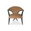 Zelle Upholstered Curved Armchair with Cross Legs 1