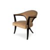 Zelle Upholstered Curved Armchair with Cross Legs 2