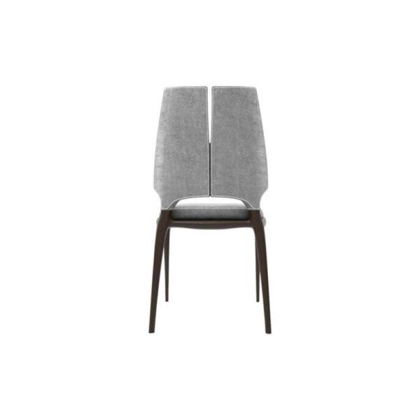 Zeus Upholstered High Back Dining Room Chair Back Side