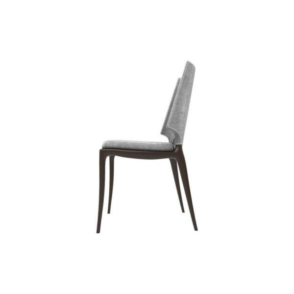 Zeus Upholstered High Back Dining Room Chair Left Side