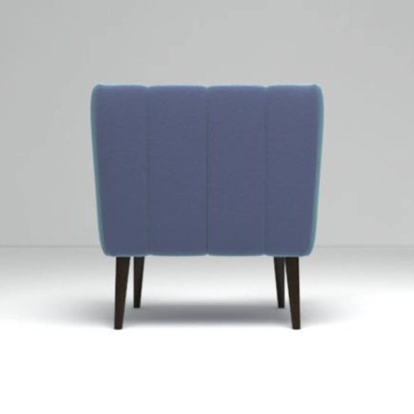 Ziggy Upholstered Stripe Armchair Back