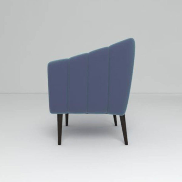 Ziggy Upholstered Stripe Armchair Left Side View