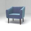 Ziggy Upholstered Stripe Armchair 2