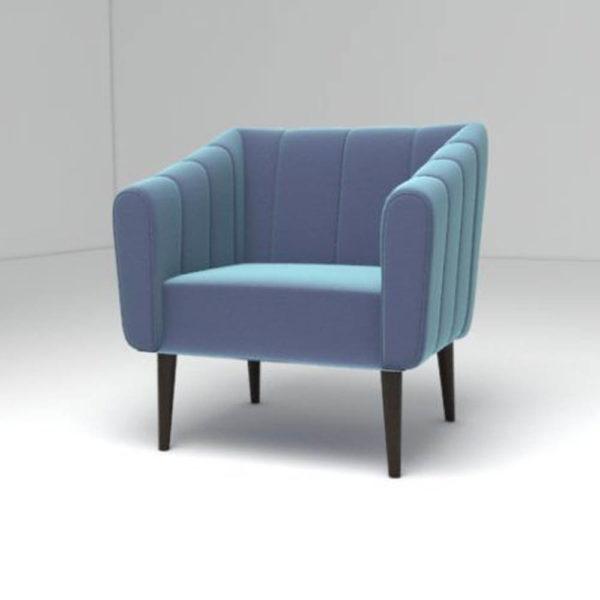 Ziggy Upholstered Stripe Armchair Left View