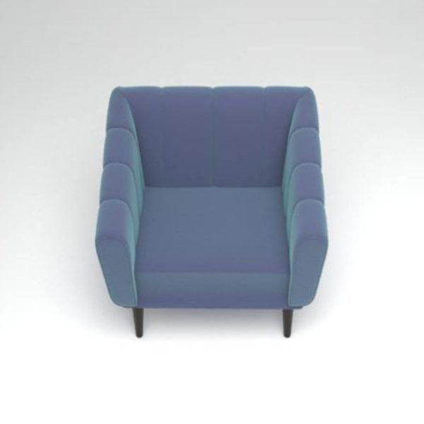 Ziggy Upholstered Stripe Armchair Top View