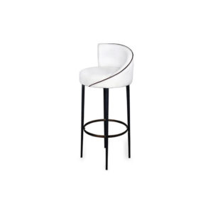 Einar Round Upholstered Bar Chair Side View