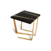 Anais Wooden Side Table with Gold Stainless Steel Legs 1