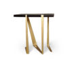 Anais Wooden Side Table with Gold Stainless Steel Legs 2