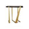Anais Wooden Side Table with Gold Stainless Steel Legs 3