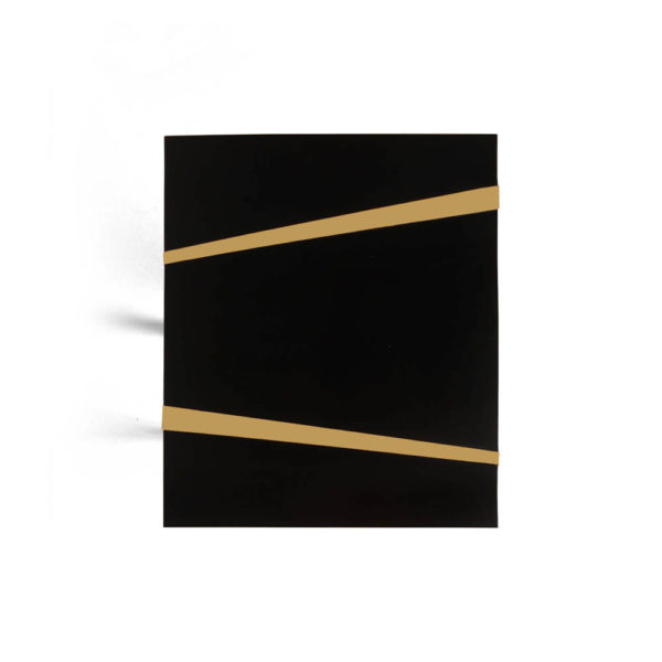 Anais Wooden Side Table with Gold Stainless Steel Legs Top