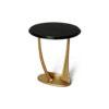 Anita Dark Brown and Gold Circular Side Table 1