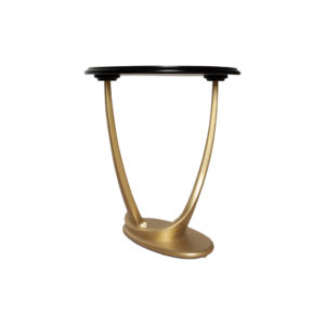 Anita Dark Brown and Gold Circular Side Table Base