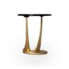 Anita Dark Brown and Gold Circular Side Table 4