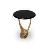 Anita Dark Brown and Gold Circular Side Table 2