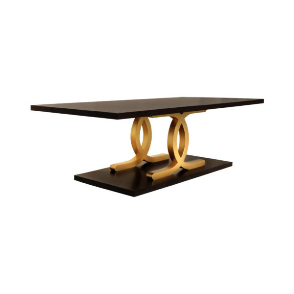 Azaro Brown and Gold Coffee Table Beside