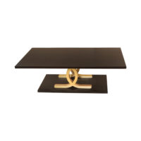 Azaro Brown and Gold Coffee Table Front View