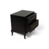 Blair Dark Brown 2 Drawer Bedside Table with Brass Inlay 3