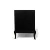 Blair Dark Brown 2 Drawer Bedside Table with Brass Inlay 5