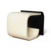 Bono Dark Brown and Cream Rectangular Side Table 2