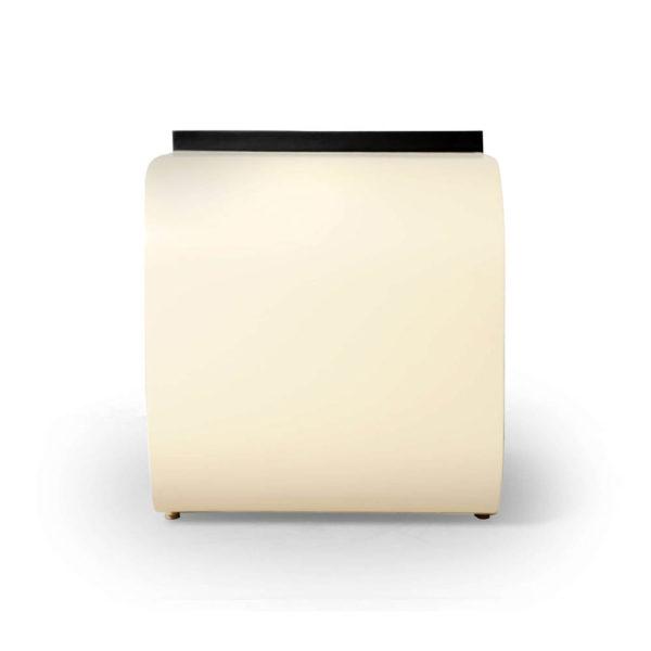 Bono Dark Brown and Cream Rectangular Side Table
