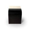 Bono Dark Brown and Cream Rectangular Side Table 4