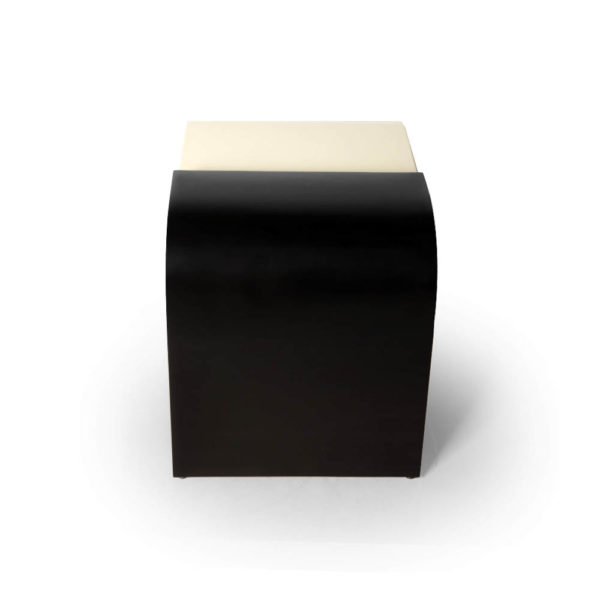 Bono Dark Brown and Cream Rectangular Side Table Top
