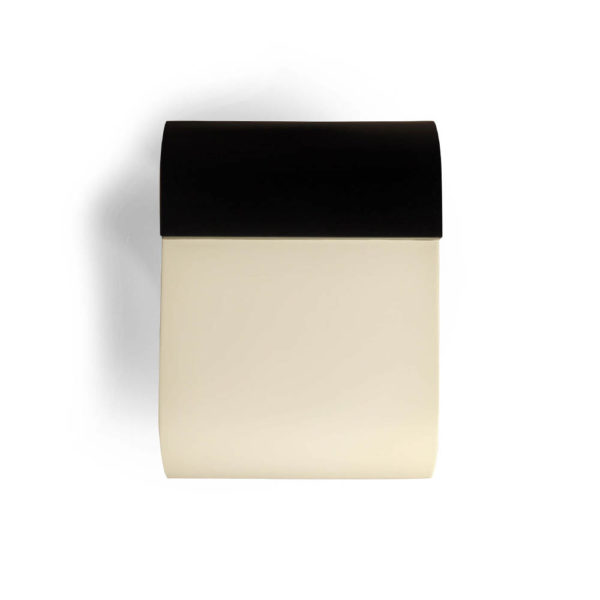 Bono Dark Brown and Cream Rectangular Side Table Top View