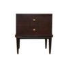 Leo Wooden 2 Drawer Dark Brown Bedside Table 1