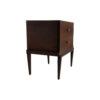 Leo Wooden 2 Drawer Dark Brown Bedside Table 4