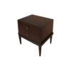 Leo Wooden 2 Drawer Dark Brown Bedside Table 2
