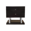 Max Two Drawer Black Wood Bedside Table 1