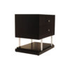Max Two Drawer Black Wood Bedside Table 2