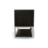 Max Two Drawer Black Wood Bedside Table 5