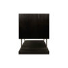 Max Two Drawer Black Wood Bedside Table 10